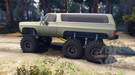 Chevrolet K5 Blazer 1975 Equipped 6x6 army green для Spin Tires