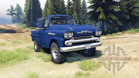 Chevrolet Apache 1959 Fleetside для Spin Tires