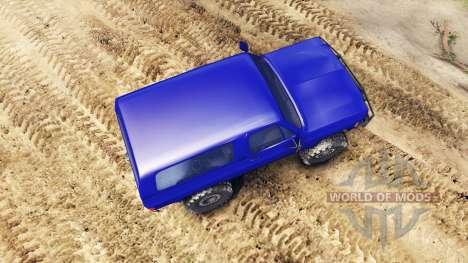 Chevrolet K5 Blazer 1975 v1.5 blue для Spin Tires