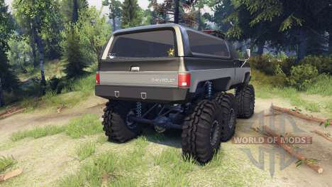 Chevrolet K5 Blazer 1975 6x6 black and silver для Spin Tires