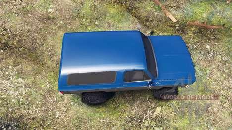 Chevrolet K5 Blazer 1975 blue and black для Spin Tires