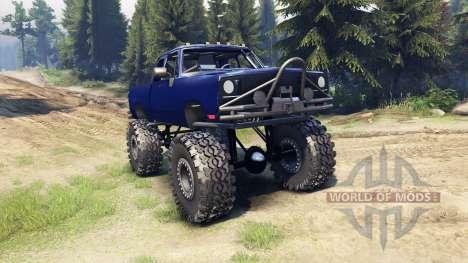 Dodge D200 blue для Spin Tires