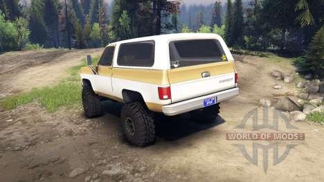 Chevrolet K5 Blazer 1975 light saddle and white для Spin Tires