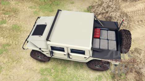 Hummer H1 army tan для Spin Tires