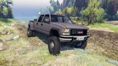 GMC Suburban 1995 Crew Cab Dually gray