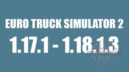Патч 1.17.1 до 1.18.1.3 для Euro Truck Simulator 2