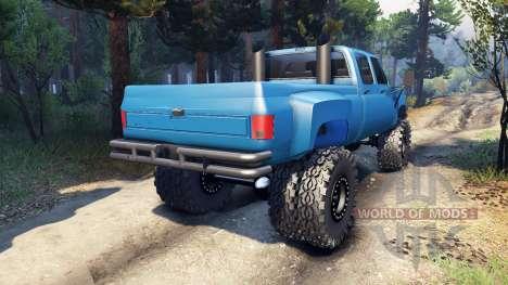 Chevrolet Silverado Dually Crew Cab v1.4 blue для Spin Tires