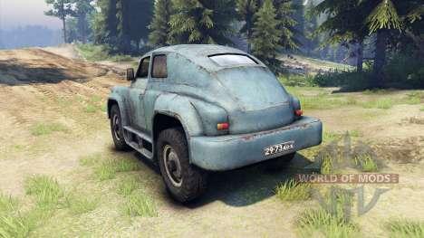 ГАЗ-М-20 Победа custom для Spin Tires