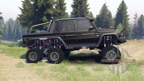 Mercedes-Benz G65 AMG 6x6 Final brilliant black для Spin Tires