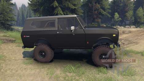 International Scout II 1977 black для Spin Tires