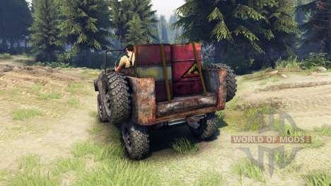 УАЗ-469 ржавый для Spin Tires