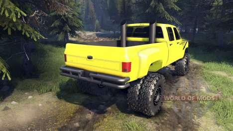 Chevrolet Silverado Dually Crew Cab v1.4 yellow для Spin Tires