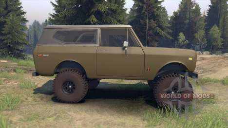 International Scout II 1977 drab green для Spin Tires