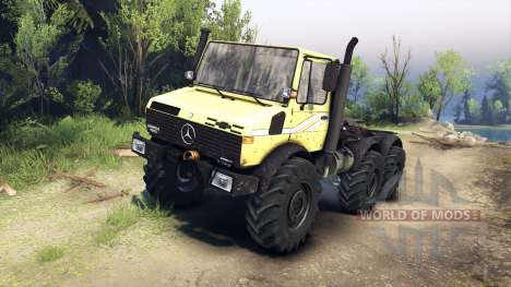 Mercedes-Benz Unimog U1500L 6х6 yellow для Spin Tires
