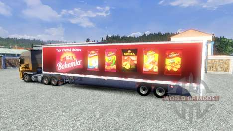Полуприцеп Bohemia для Euro Truck Simulator 2