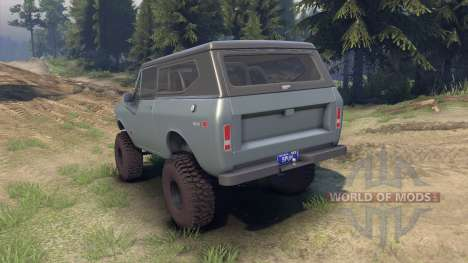 International Scout II 1977 agent silver для Spin Tires