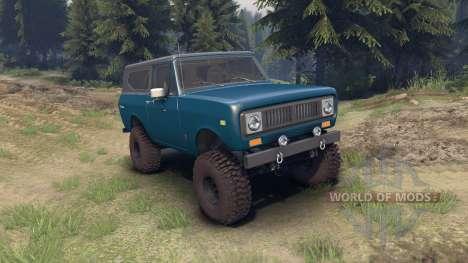 International Scout II 1977 bimini blue poly для Spin Tires