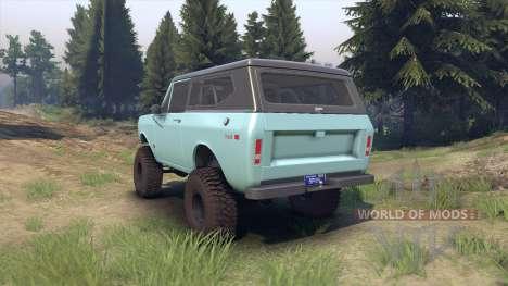 International Scout II 1977 glacier blue для Spin Tires