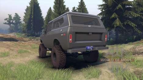 International Scout II 1977 gray для Spin Tires