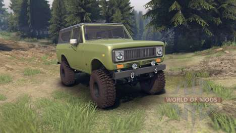 International Scout II 1977 grenoble green для Spin Tires