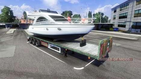 Полуприцеп с яхтой для Euro Truck Simulator 2