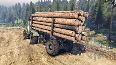 Т-150К лесовоз для Spin Tires