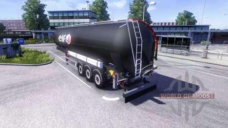 Полуприцеп-цистерна ELF для Euro Truck Simulator 2
