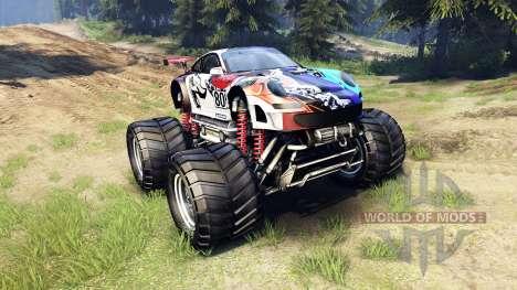 Porsche 911 GT3 RSR Monster для Spin Tires