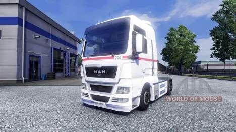 Скин Wheels Logistics на тягач MAN для Euro Truck Simulator 2
