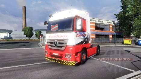 Mercedes-Benz Actros EuroTrans для Euro Truck Simulator 2