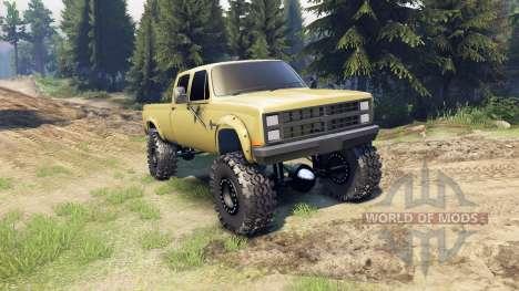 Chevrolet Silverado Сrew Сab 1986 для Spin Tires