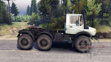 Mercedes-Benz Unimog U1500L 6х6 grey для Spin Tires