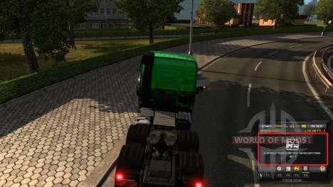 Мод на опыт и деньги v1.2 для Euro Truck Simulator 2