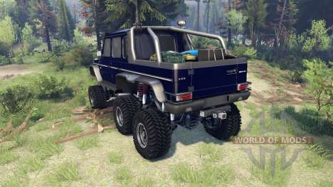 Mercedes-Benz G65 AMG 6x6 Final dark blue для Spin Tires