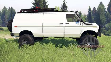 Ford E-350 Econoline 1990 v1.1 white для Spin Tires