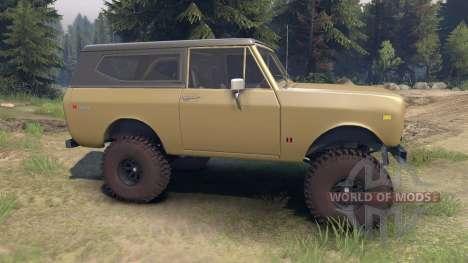 International Scout II 1977 buckskin для Spin Tires