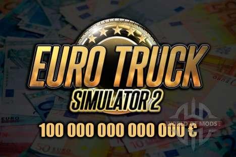 Мод на деньги для Euro Truck Simulator 2