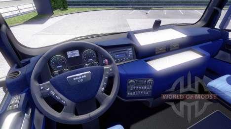 Синий интерьер MAN для Euro Truck Simulator 2