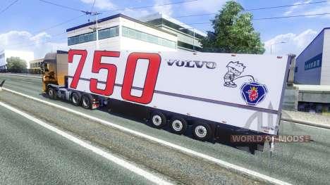 Полуприцеп Volvo для Euro Truck Simulator 2