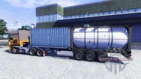 Полуприцеп контейнеровоз для Euro Truck Simulator 2