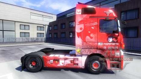 Скин Santa Fe Colombia на тягач Majestic для Euro Truck Simulator 2