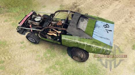 Dodge HL2 green для Spin Tires