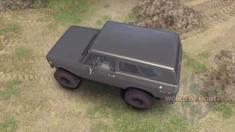 International Scout II 1977 gray для Spin Tires