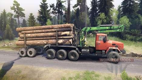 КрАЗ-7140 оранжевый для Spin Tires