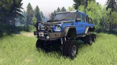Mercedes-Benz G65 AMG 6x6 Final blue pearl