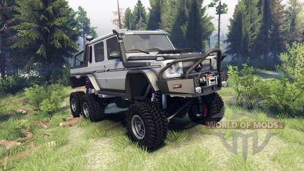 Mercedes-Benz G65 AMG 6x6 Final athlet silver для Spin Tires