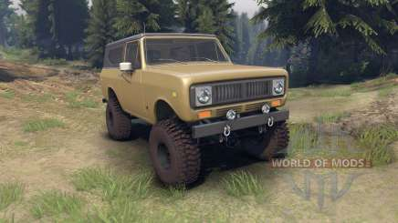 International Scout II 1977 buckskin для Spin Tires