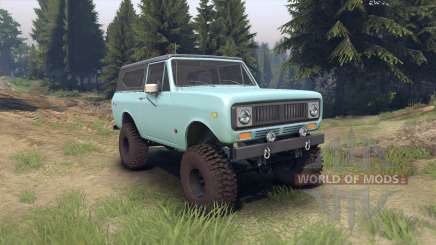 International Scout II 1977 glacier blue для Spin Tires