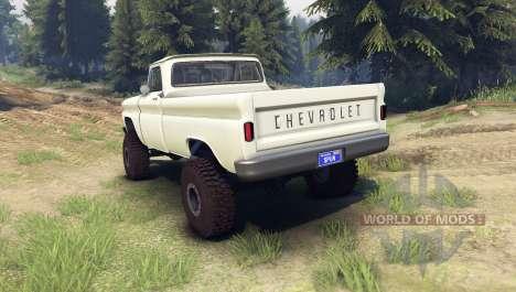 Chevrolet С-10 1966 Custom chat slate для Spin Tires