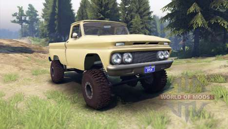 Chevrolet С-10 1966 Custom sandalwood tan для Spin Tires